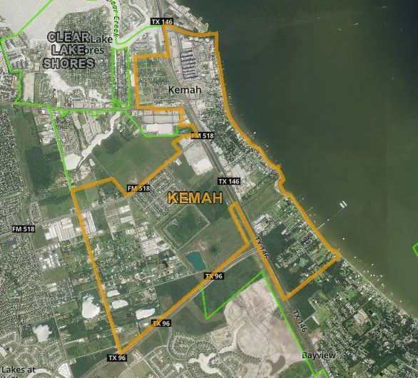 GIS depiction of Kemah City Limits